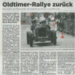 Oltimer-Rallye zurück